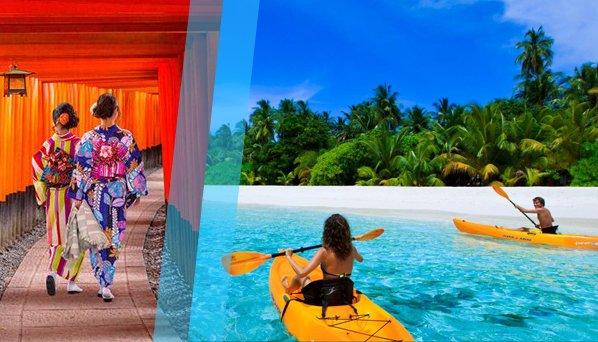 Combinado Japón y Maldivas