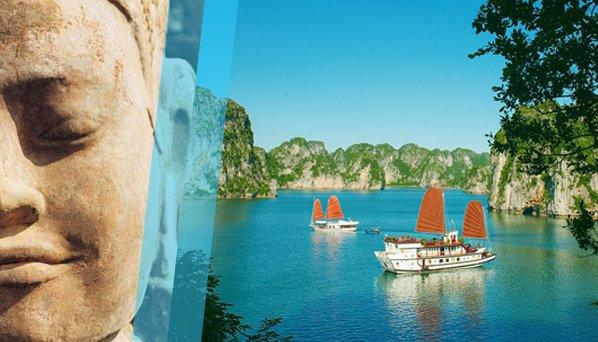 Descubre la belleza de Halong Bay en Vietnam y la magia Angkor en Camboya